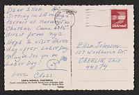 thumbnail image for Claes Oldenburg postcard to Ellen H. Johnson
