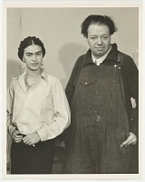 thumbnail image for Photograph of Frida Kahlo and Diego Rivera