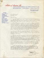 thumbnail image for Edgar Preston Richardson, N.Y. letter to Rockwell Kent, Detroit, Mich.