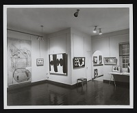 thumbnail image for Installation view of <em>Robert Motherwell: Paintings, drawings, and collages</em> at the Kootz Gallery