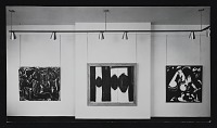 thumbnail image for Installation view of <em>Black or white: Paintings by European and American artists</em> exhibition at the Kootz Gallery
