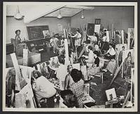 thumbnail image for Yasuo Kuniyoshi teaching a class at Mills College