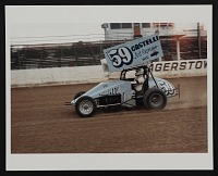 thumbnail image for Photograph of Salvatore Scarpitta racing his car at Hagerstown Raceway