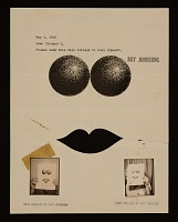 thumbnail image for Ray Johnson mail art to Lucy Lippard