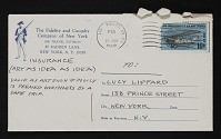 thumbnail image for Joseph Kosuth mail art to Lucy Lippard, New York, New York