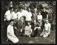 thumbnail image for Harvey Littleton, Clayton Bailey, and Robert Florian among others at a Toledo Museum of Art workshop