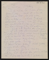 thumbnail image for Willem de Kooning letter to Michael Loew