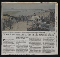 thumbnail image for Friends remember artist at his 'special place'