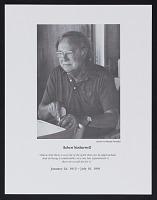 thumbnail image for Program for memorial service for Robert Motherwell