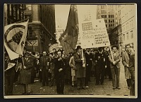 thumbnail image for Protest held by the John Reed Club and Artists' Union