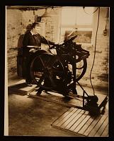 thumbnail image for Elizabeth McCausland at her printing press