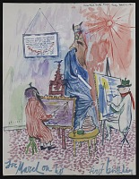 thumbnail image for Charles E. Buckley birthday card for March Lion the cat