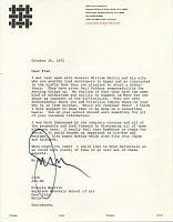thumbnail image for Jack Lenor Larsen letter to Francis Sumner Merritt