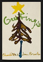 thumbnail image for James Brooks Christmas card to Dorothy Canning Miller