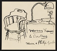 thumbnail image for Philip Guston Christmas card to Dorothy Canning Miller