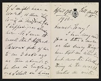 thumbnail image for Henry James letter to Antonio de Navarro