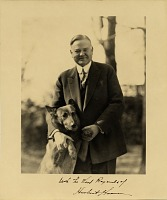 thumbnail image for Herbert Hoover and his dog 'King Tut'