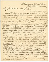 thumbnail image for William Daniel Murphy letter to Harriet Anderson Stubbs Murphy
