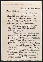 thumbnail image for Max Weber letter to Louise Nevelson
