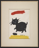 thumbnail image for Painting of a black cat