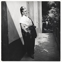 thumbnail image for Photograph of Frida Kahlo in Coyoacan, Mexico