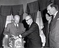 thumbnail image for President Dwight D. Eisenhower and Baron Moens de Fernig