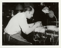 thumbnail image for Jackson Pollock at potter's wheel in the East Hampton studio of Mrs. Larry Larkin