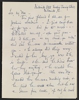 thumbnail image for Elizabeth Wright Hubbard letter to Lee Krasner