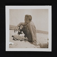 thumbnail image for Robert Motherwell on the beach