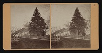 thumbnail image for Stereocard of Hiram Power's childhood home, Woodstock, Vermont