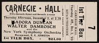 view Ticket for Isadora Duncan performance digital asset number 1