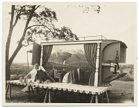 thumbnail image for Photograph of Grant Wood and his ice wagon