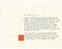 thumbnail image for Frank Lloyd Wright to Aline B. (Aline Bernstein) Saarinen