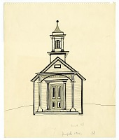 view Schoolhouse digital asset: drawing