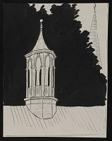 "thumbnail image for Sketch of ""Old Arsenal"" cupola, New Castle, Delaware"