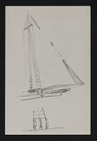 thumbnail image for Sketch of rigging on a sailboat