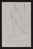 thumbnail image for Sketch of multiple sailboat sails