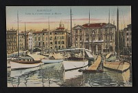 thumbnail image for Postcard with image of yachts in the Marseilles harbor