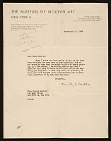 thumbnail image for Dorothy Canning Miller, New York, N.Y. letter to Honoré Sharrer, New York, N.Y.