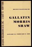 """thumbnail image for """"Recent Paintings by Gallatin, Morris and Shaw"""""""