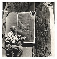 thumbnail image for Joseph Lindon Smith reproducing an Egyptian bas relief