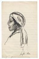 view <em>Woman wearing head scarf</em> digital asset number 1