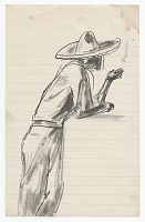 view <em>Leaning man in sombrero</em> digital asset number 1