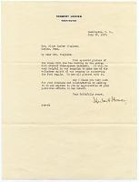 thumbnail image for Herbert Hoover letter to Alice Barber Stephens