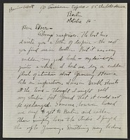 thumbnail image for Berenice Abbott letter, Berlin, Germany, to John Henry Bradley Storrs, Paris, France