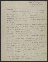 thumbnail image for George Stout letter to his wife Margaret Stout