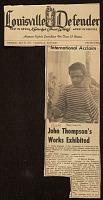 thumbnail image for John Thompson's work exhibited
