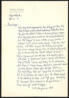 thumbnail image for Lincoln Kirstein letter to George Tooker