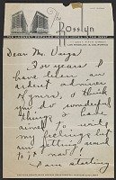 thumbnail image for Delila Aluotto letter to Alberto Vargas