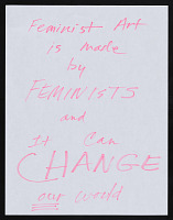 "thumbnail image for Maren Hassinger response to ""What is Feminist Art?"""